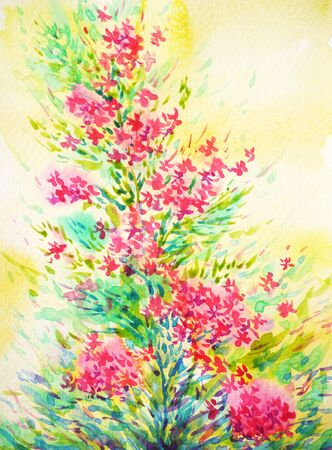 beautiful flower watercolor painting illustration design