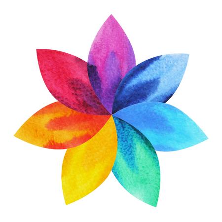 7 Colores De Símbolo De Chakra Flor De Loto Con Cuerpo Humano