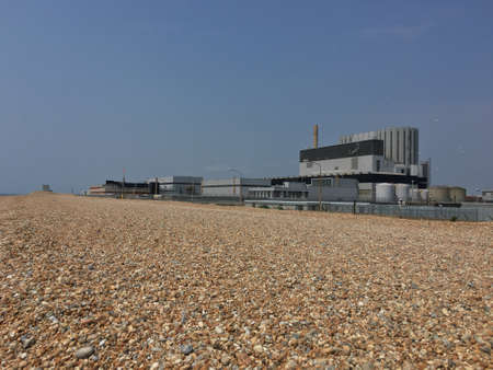 pebble beach: Dungeness Nuclear Power Station on Dungeness Pebble Beach in Kent