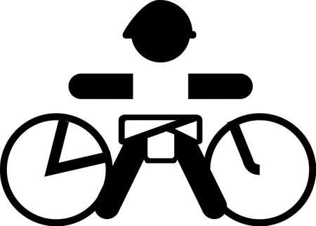 Baby-Biker Aufkleber logo Illustration