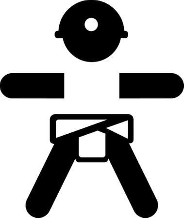 Baby H�hlenforscher Aufkleber logo Illustration
