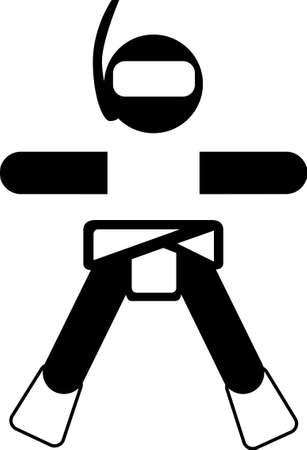baby diver sticker logo Illustration