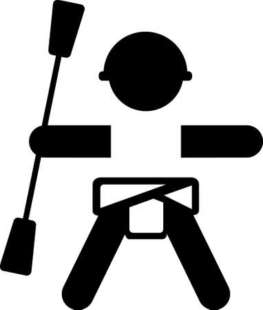 Baby Kajakfahrer Aufkleber logo Illustration