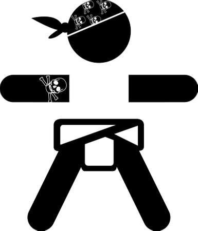 baby rocker sticker logo Illustration