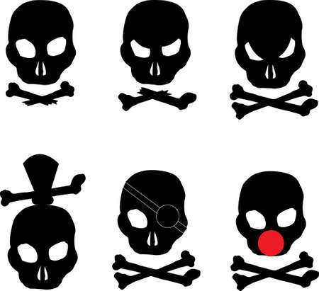 different types of pirate skull and crossbones