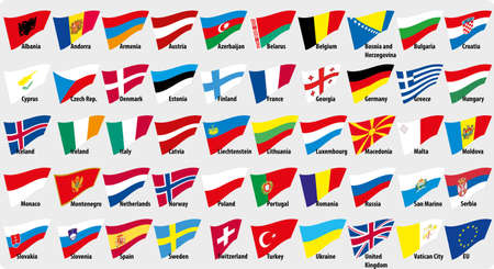 netherlands map: Flags of European countries