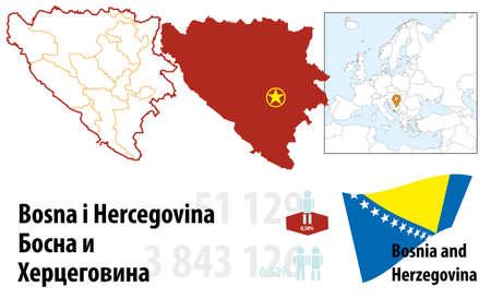 Bosnia and Herzegovina Stock Vector - 16765419