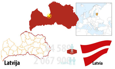 Latvia Stock Vector - 16765400