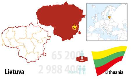 Litauen Illustration
