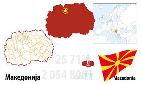 Mazedonien Illustration