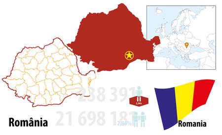 Romania Illustration