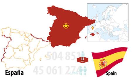 Spanien Illustration