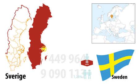 Schweden Illustration
