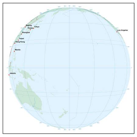 Welt sphere180 - jedes Land ist separat und editierbare Illustration