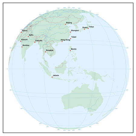 world sphereE120 - each country is separate and editable Illustration