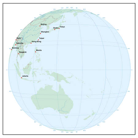 Welt sphereE150 - jedes Land ist separat und editierbare