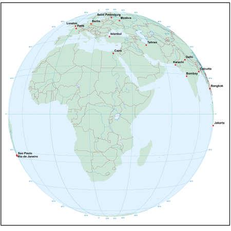 Welt sphereE30 - jedes Land ist separat und editierbare
