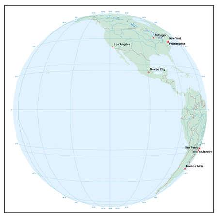 Welt sphereW120 - jedes Land ist separat und editierbare Illustration