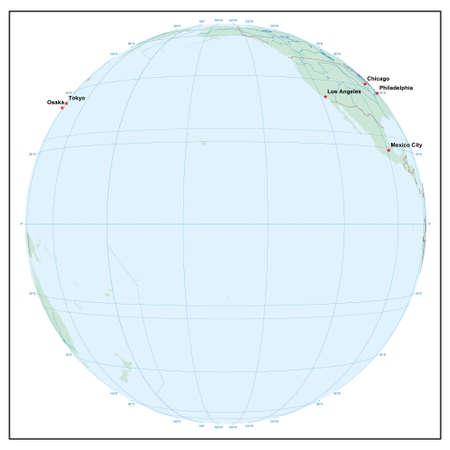 Welt sphereW150 - jedes Land ist separat und editierbare Illustration