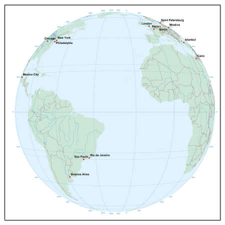 world sphereW30 - each country is separate and editable