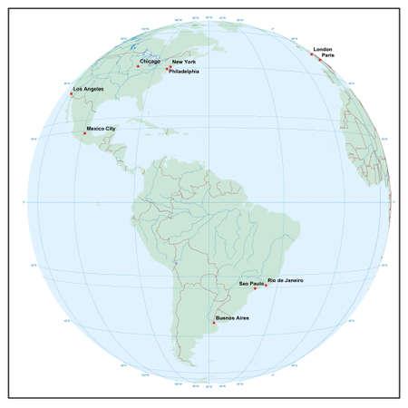 Welt sphereW60 - jedes Land ist separat und editierbare