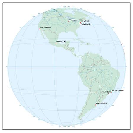 Welt sphereW90 - jedes Land ist separat und editierbare Illustration