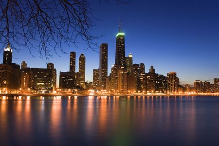 lake shore drive: Downtown Chicago