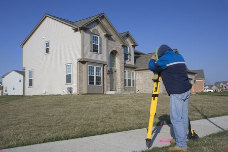 land surveying: Residential Land Surveying - working with total station.