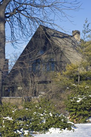 front elevation: Frank Lloyds house in Oak Park, Il.