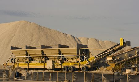 sand quarry: Working in the Cement Factory - Chicago, IL.