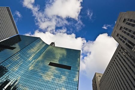 Look Up! - skyscrapers in Downtown Chicago. Stock Photo - 3835541