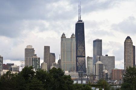 cna: Chicago, Illinois visto desde el lado oeste