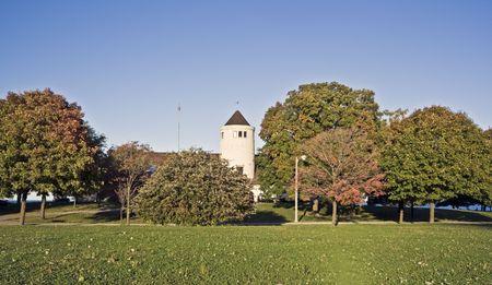 cna: Castello in uno dei parchi a Chicago, IL.