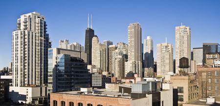 cna: John Hancock en el �rea de Chicago Foto de archivo