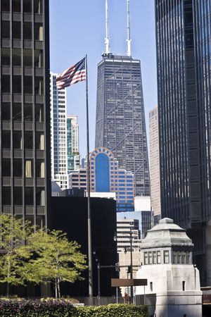 Distant view of Hancock Tower in Chicago Stock Photo - 3994608