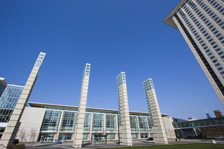 McCormick Place in Chicago Stock Photo