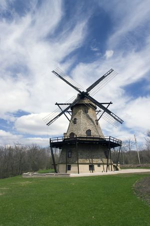 WIndmill in Geneva, west suburb of Chicago. photo