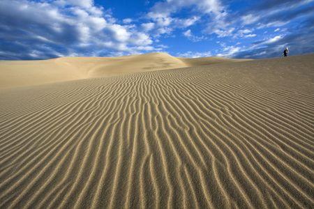 Walking the dunes - Great Sand Dunes National Park, Colorado.