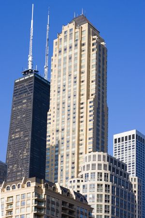 Tall buildings in Chicago, IL. photo