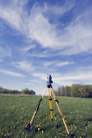 Surveying during the spring time photo