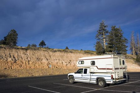Small mobile home travelling in Utah