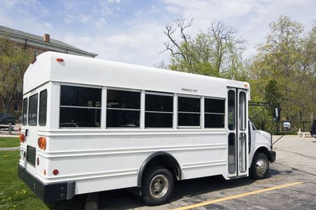 White school bus