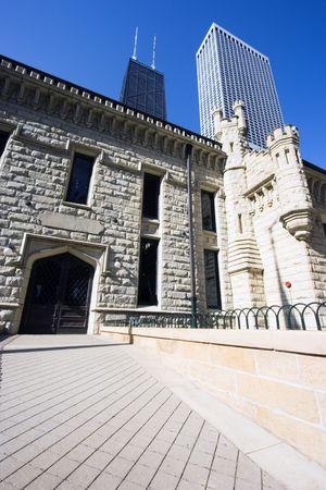 wody wieży: Water Tower obszar Chicago, IL. Zdjęcie Seryjne