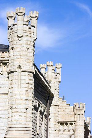 windy city: La construcci�n de la torre de agua en Chicago, Illinois.