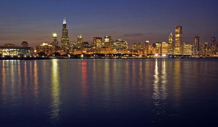 시카고, 일리노이 사무실 건물. 스톡 콘텐츠