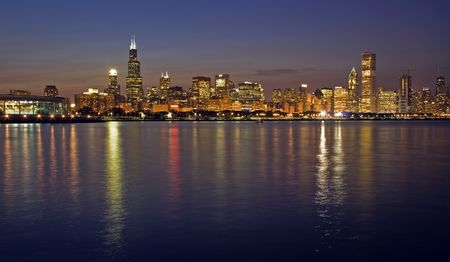 Kantoorgebouwen in Chicago, IL. Stockfoto