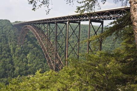 west virginia: New River Gorge Bridge in West Virginia . Stock Photo