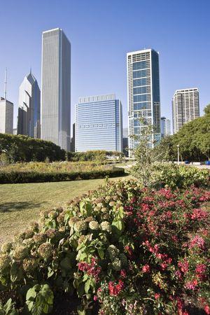 cna: Edifici a nord di Chicago Millennium Park Archivio Fotografico