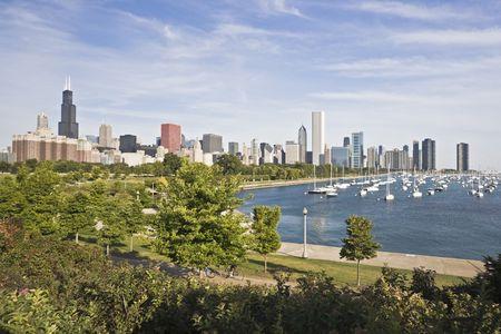 Panorama of Chicago and Lake Michigan Stock Photo - 4073260