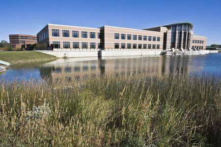 il: Du Page County administration building located in Wheaton, Il. Stock Photo